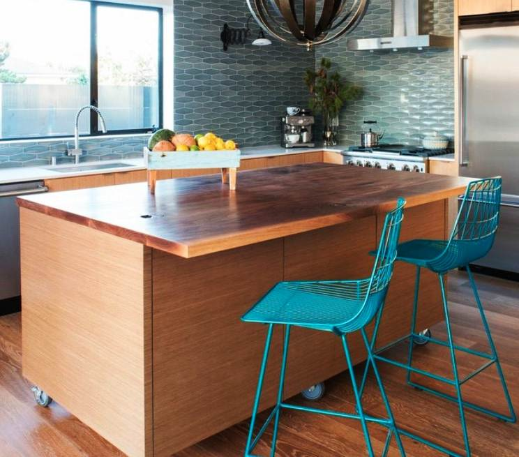 Image of: Rolling Kitchen Island With Seating