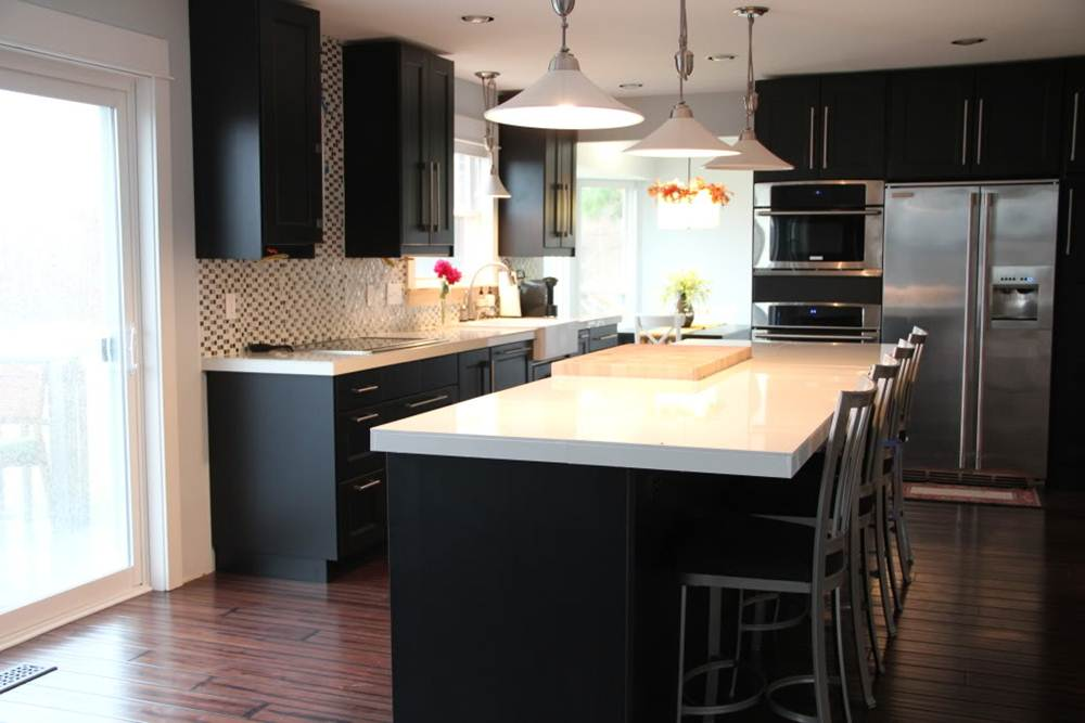 Image of: Espresso Kitchen Cabinets