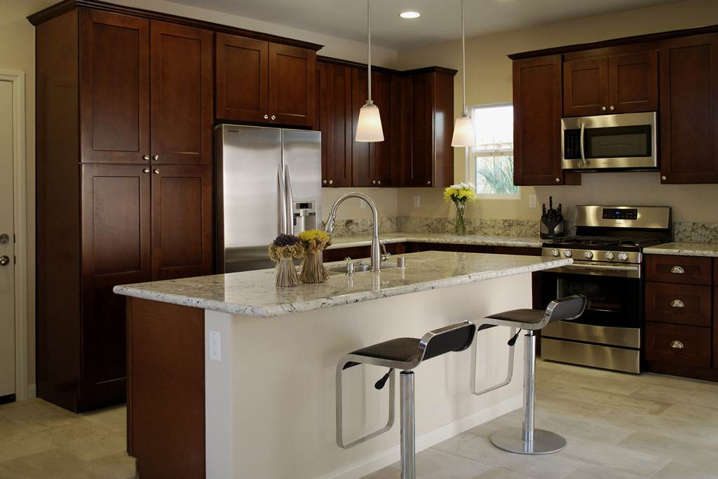 Image of: Espresso Color Kitchen Cabinets