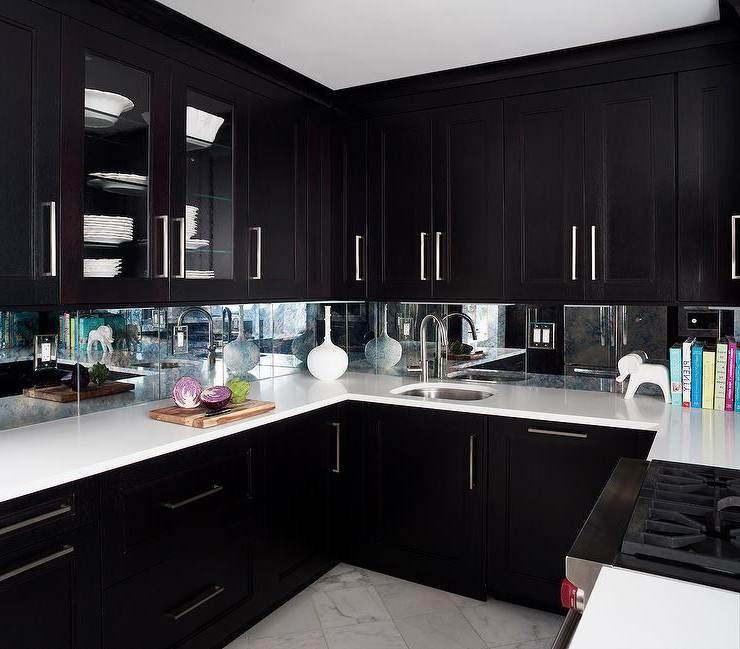 Image of: Dark Espresso Kitchen Cabinets