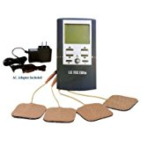 (AC Adapter Included!) LGMedSupply ELITE TENS and Muscle Stimulator Combo Unit with 4 Electrode Pads