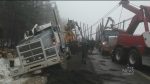 No one was injured when a logging truck lost contr