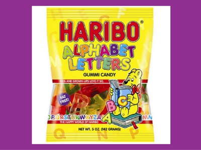 Haribo Alphabet Letters Gummi Candy Make Back to School Candy Sweet Blog