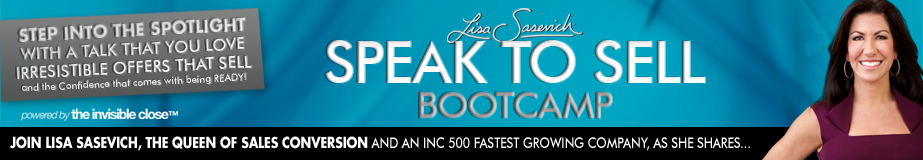 Speak to Sell Virtual Bootcamp 2016 Review | Lisa Sasevich header image