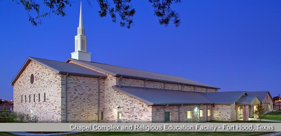 Solis Constructors, Chapel Complex and Religious Education Facility - Fort Hood, Texas