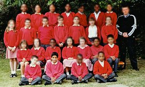 Mohammed Emwazi aged 11 with classmates in west London.