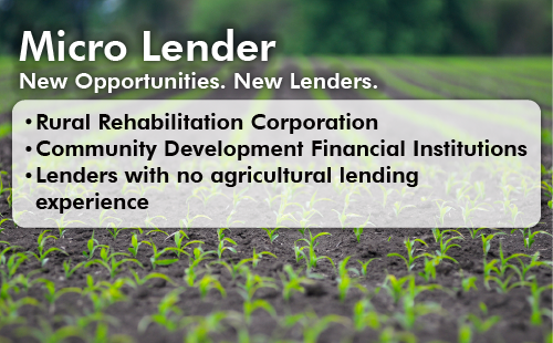 Micro Lenders offer customers EZ Guaranteed Loans for their farm   operations