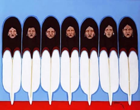 """The Ancestors,"" by Harvey Pratt (Cheyenne-Arapaho)"