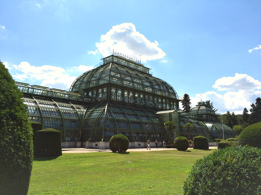 Palm House at Schonbrunn Palace in Vienna
