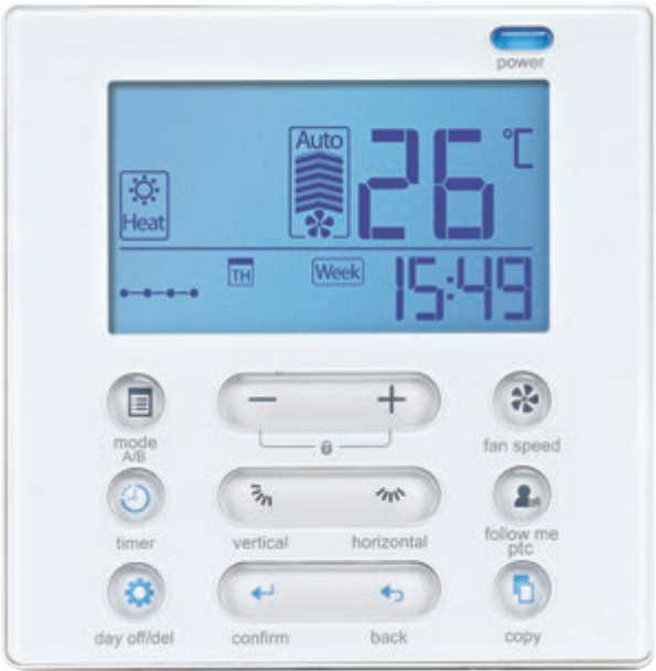 Midea-ducted-system-control