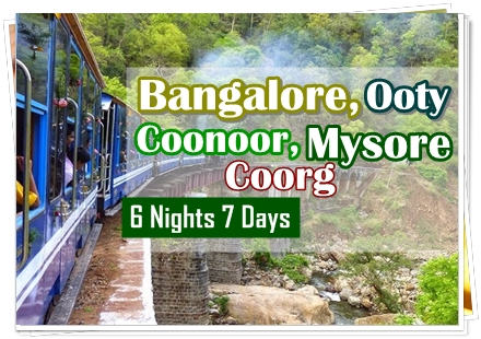 6N 7D Bangalore Ooty Mysore Coorg