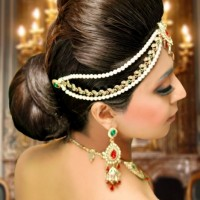 Indian wedding hairstyle bun