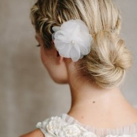 Australia women low messy bun hairstyles for prom