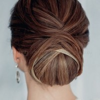 low bun hairstyles for long hair