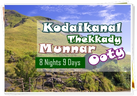 8N 9D South India Tour Package