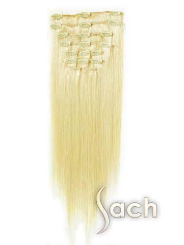 Çıt Çıt Postiş Saç Gerçek İnsan Saçı Platin Renk