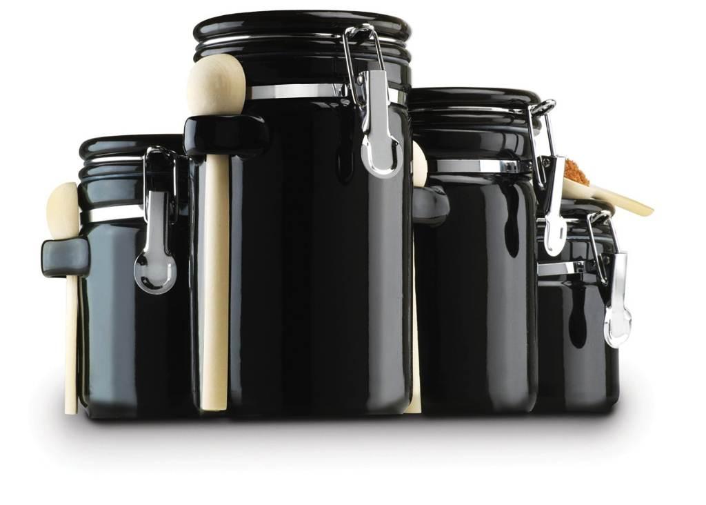 Image of: Black Canister Sets for Kitchen