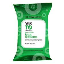 Yes To cucumber soothing Facial Towelettes