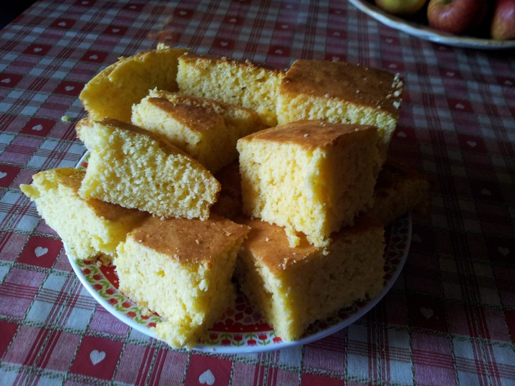 Plate full of cornbread