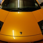 Paint Protection film to stop stone chips installed to a Lambourgini