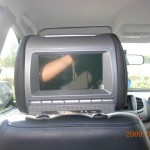 Headrests with built in DVD players