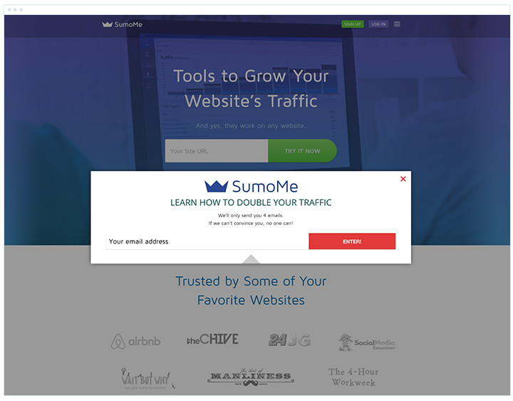 SumoMe - Tool for Subscribe Customizations