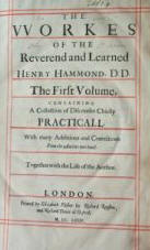 Thumbnail photograph of the title page to the works of Henry Hammond