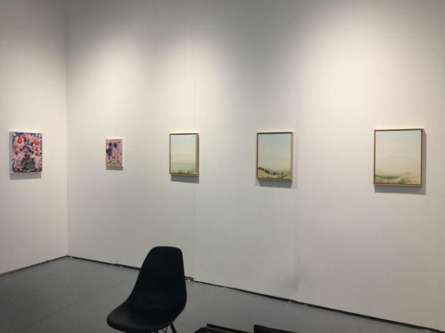 Monya Rowe Gallery. These landscapes by Jake Longstretch and Larissa Bates and Jake Longstreth.