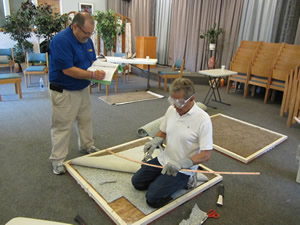 photo of carpet cleaning performance assessment