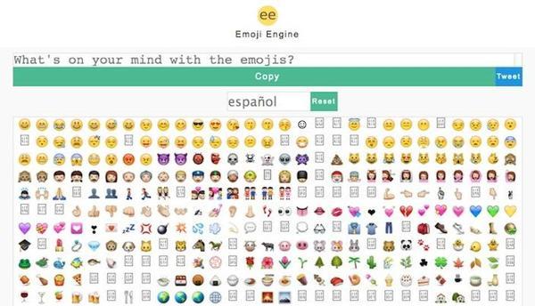Buscador de emojis basado en palabras