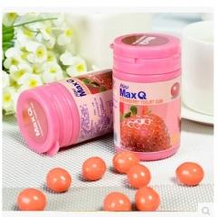 台湾进口统一MAXQ木糖醇口香糖 柠檬味/葡萄/草莓味55g 柠檬味