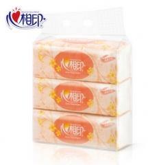 【日用专场】心相印抽纸 花语系列纸巾 200抽*3包 餐巾纸