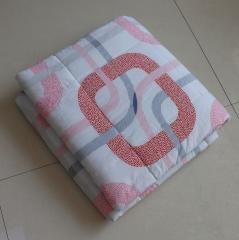 纯棉人造棉夏凉被人造棉空调被舒适透气可水洗薄被子 8号色 1.5m*2.0m
