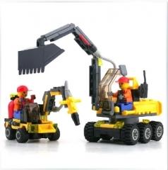 开智6092城市工程队 智力积木拼装积木196pcs 山东包邮