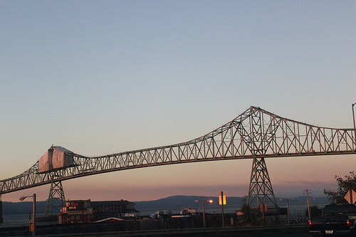 Bridge over the Columbia River, from Astoria