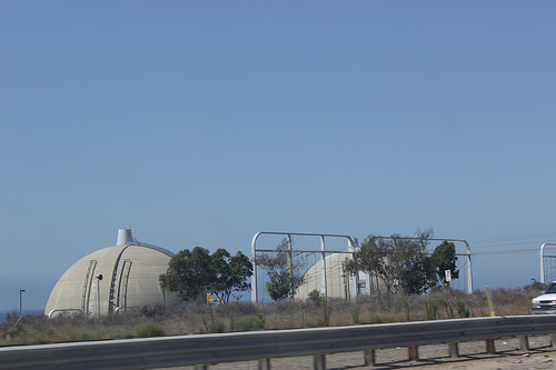 The San Onofre Nuclear Generating Station, along Hwy 101, which is no longer leaking radiation into the environment