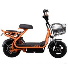 【电动车】到店自提,比德文迷你电动自行车 坦途 48V20a 电瓶车 到店自提/橙