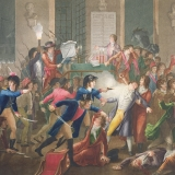 The arrest of Robespierre on the night of 9-10 Thermidor, Year Two by Jean-Joseph Tessaert. Musée Carnavalet / Bridgeman Images