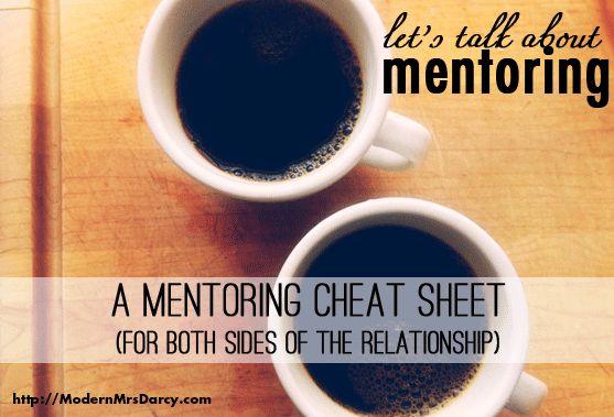mentoring cheat sheet
