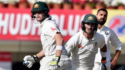 Steve Smith and Glenn Maxwell steadied the Australian innings with an unbeaten 159-run partnership on Day 1 of the third Test in Ranchi. (Photo: PTI)