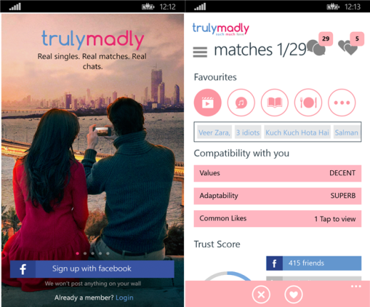 TrulyMadly for Windows Phone image 4