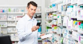 person in drug store