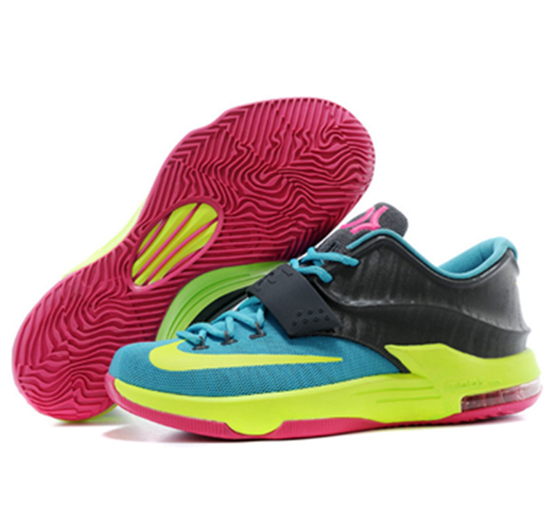 NIKE KD VII KD 7 New Red Black Yellow Blue