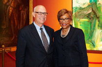 E. Philip Wenger, charman and chief executive of Fulton Financial Corp,, and Evelyn F. Smalls, president and chief executive of United Bancshares Inc., mark Fulton's $675,000 investment in United.