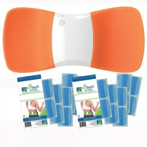Hollywog SPECIAL EDITION ORANGE WiTouch Wireless TENS Bonus Package w/ 20 (10 pair) Gel Pads