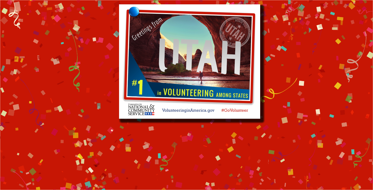 Utah Ranks #1 for Volunteering in 2015