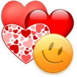 Emoji Hearts and Smily face