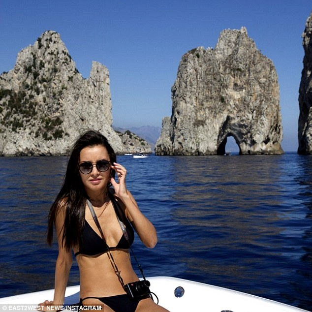 World traveler:Victoria Rakhimbayeva, believed to be 29, posted photographs from around the world and said that she and Lesin were planning to live in New York, although she preferred Los Angeles