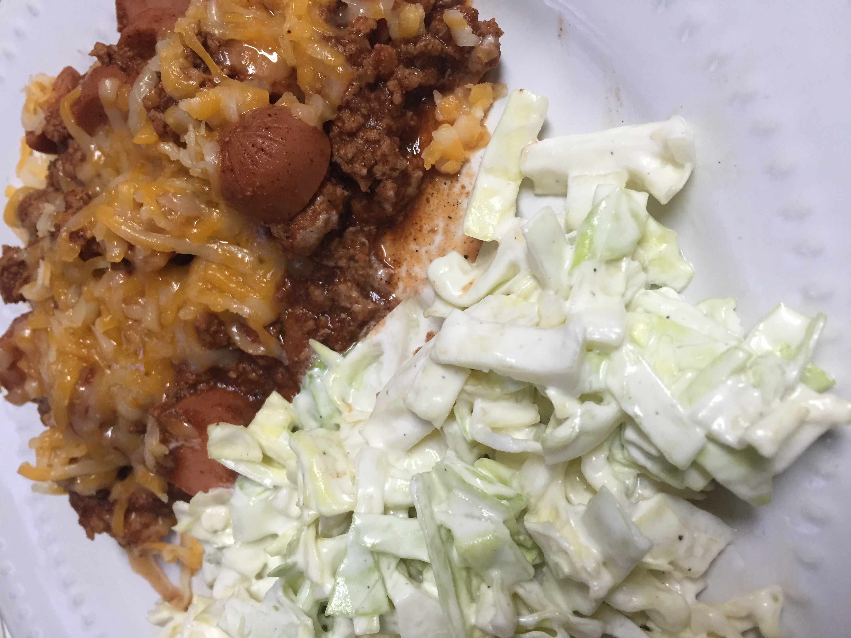 Keto Chili Dogs and Slaw