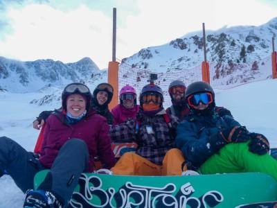 Front left, Erin, Becca, Chris. Back: Dale, Henri, Alastiar